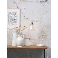 Schreibtischlampe PARIS mit Marmor-Fuß Weiß