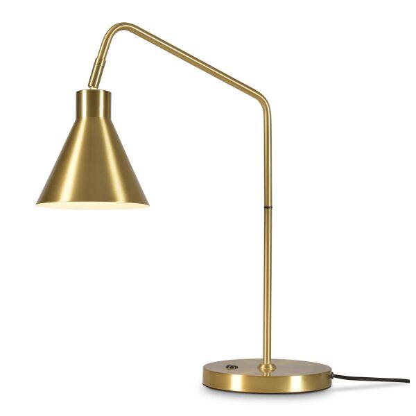 Tischleuchte LYON m. schwenkbarem Schirm Gold