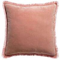 Kissen mit Fransen FARA Velours 45x45 cm Pink