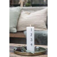 Adventskerze 1-4 weiß H20 cm