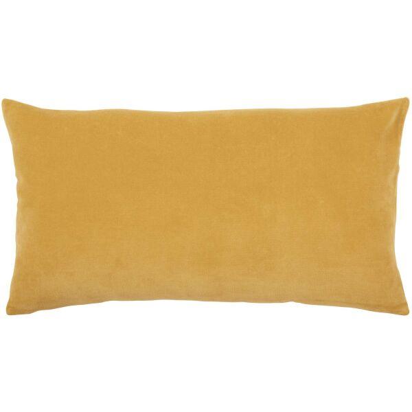 Kissen ELISE Velours/Baumwolle 30 x 50 cm Mais