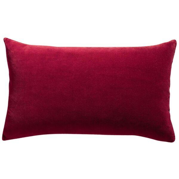 Kissen ELISE Velours/Baumwolle 40 x 65 cm Griotte