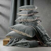 Kissen ELISE Velours/Baumwolle 40 x 65 cm Absynthe
