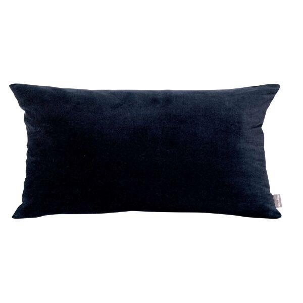 Kissen ELISE Velours/Baumwolle 40 x 65 cm Cobalt
