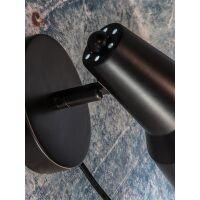 Wandlampe Valencia Metall schwarz