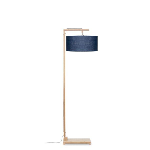 Stehlampe HIMALAYA Bambus/ÖkoLeinen H174cm Blue Denim