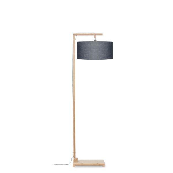 Stehlampe HIMALAYA Bambus/ÖkoLeinen H174cm Dunkelgrau
