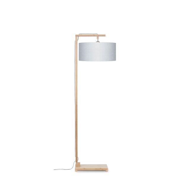 Stehlampe HIMALAYA Bambus/ÖkoLeinen H174cm Hellgrau