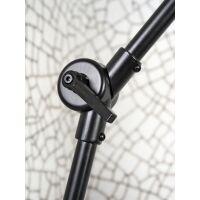Tischlampe AMSTERDAM Retrostyle mit Leinenschirm