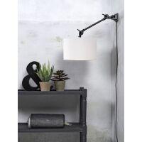Wandlampe AMSTERDAM Gr. S Retrostyle mit Schirm White