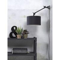 Wandlampe AMSTERDAM Gr. S Retrostyle mit Schirm Dark Grey