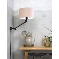 Wandlampe AMSTERDAM Gr. S Retrostyle mit Schirm Taupe