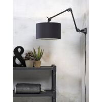 Wandlampe AMSTERDAM Gr. M Retrostyle mit Schirm Dark Grey