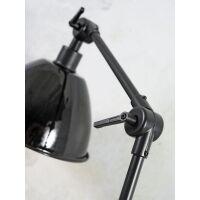 Tischlampe AMSTERDAM Emaille Schwarz in Retrostyle