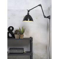 Wandlampe AMSTERDAM Emaille Schwarz Retrostyle, Gr. M