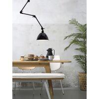 Wand-/Deckenlampe AMSTERDAM Emaille Schwarz Retrostyle, Gr. L