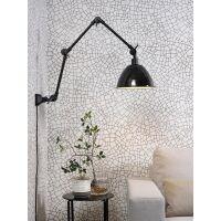 Wand-/Deckenlampe AMSTERDAM Emaille Schwarz Retrostyle,...