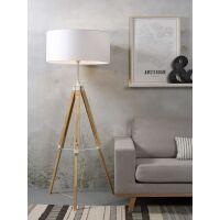 Stehlampe DARWIN Natur weiß/Schirm Ø60cm White