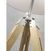 Stehlampe DARWIN Natur weiß/Schirm Ø60cm Hellgrau