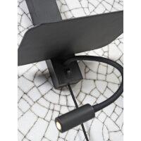 Wandleuchte FLORENCE m. Ablage, USB-Anschluß und Leselampe Smoke Grau