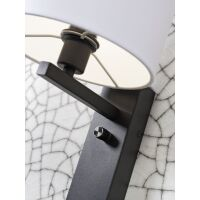 Wandleuchte FLORENCE m. Ablage und USB-Anschluß Leinen dunkel