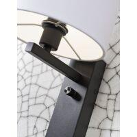 Wandleuchte FLORENCE m. Ablage und USB-Anschluß Leinen hell