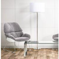 Moderne Stehlampe WINONA mit Stoffschirm Weiß