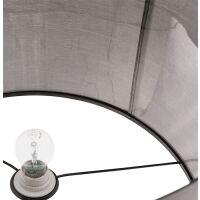Moderne Stehlampe WINONA mit Stoffschirm Grau