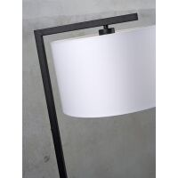 Stehlampe BOSTON mit Leinenschirm Ø25x45 cm Dark Grey
