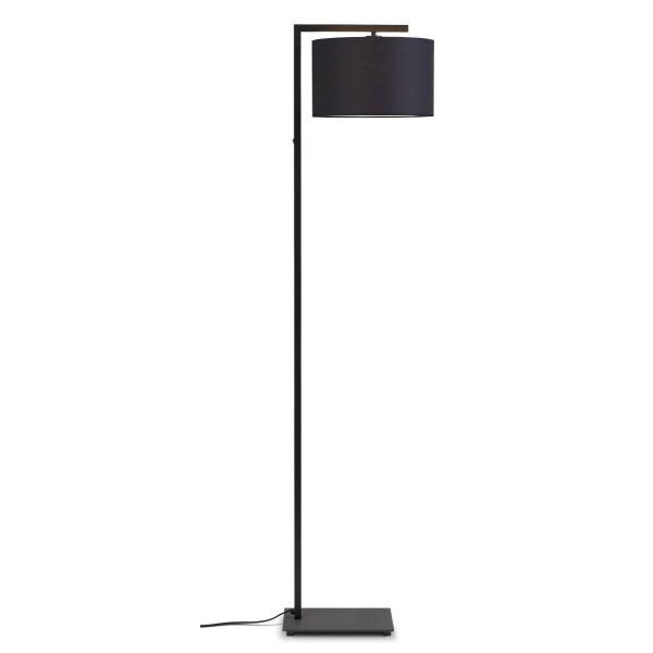 Stehlampe BOSTON mit Leinenschirm Ø32x20 cm Dark Grey