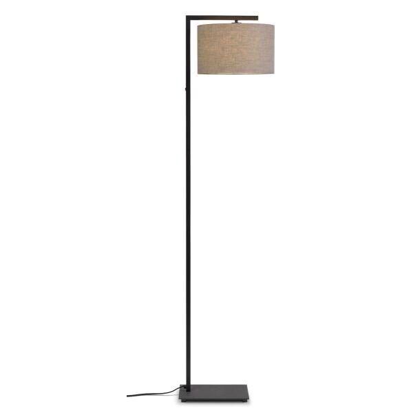 Stehlampe BOSTON mit Leinenschirm Ø32x20 cm Leinen dunkel