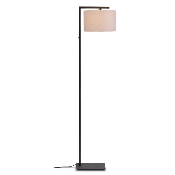 Stehlampe BOSTON mit Leinenschirm Ø32x20 cm Taupe