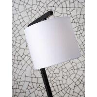Tischlampe BOSTON mit Schirm Ø18x15cm White