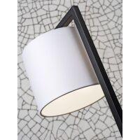 Tischlampe BOSTON mit Schirm Ø18x15cm Leinen hell