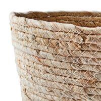 Aufbewahrungskorb COLLECT aus Maisblatt Natur