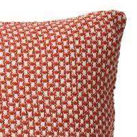 Kissenbezug ANNA aus recycelter Baumwolle Orange/Creme