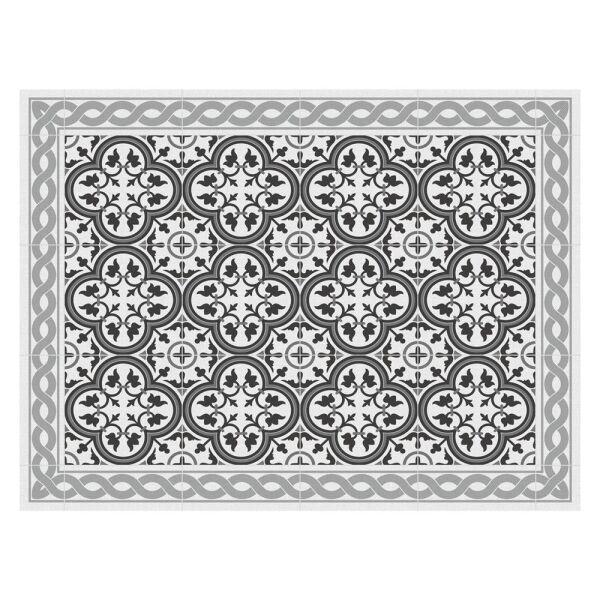 Vinyl-Tischsets, Tiles portugese grey im 4er-Set