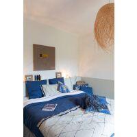Bettläufer ZEFF MASAI 100% Stonewashed Leinen Blau
