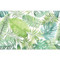 Vinyl Teppich MATTEO Grüne Blätter