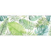 Vinyl Teppich MATTEO Grüne Blätter 70 x 180 cm