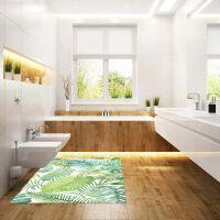 Vinyl Teppich MATTEO Grüne Blätter 170 x 240 cm