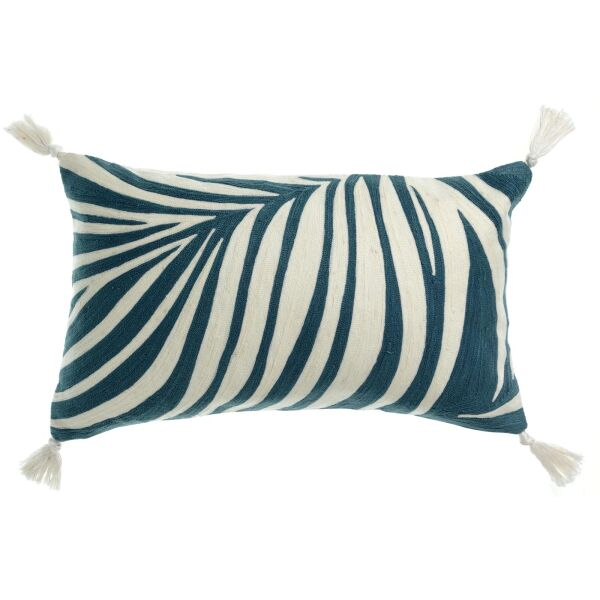 Kissen ANIKA 30x50 cm gestickt 100% Baumwolle Riviera