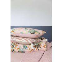 Kissen BOTANIA Pink mit Samt-Rückseite