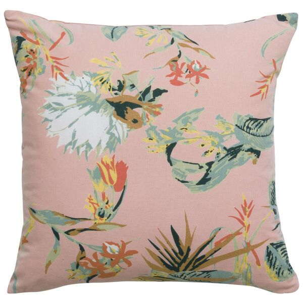Kissen BOTANIA Pink mit Samt-Rückseite 45 x 45 cm