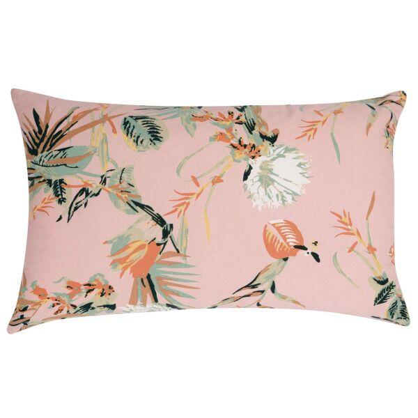 Kissen BOTANIA Pink mit Samt-Rückseite 40 x 65 cm