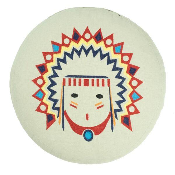Sitzkissen Indianerkopf