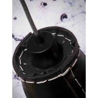 Hängelampe AMAZON aus recycled Reifen schwarz 7 Schirme