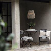Outdoor-Lampe SAIGON Polyrattan Ø28 cm