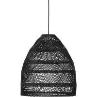 Outdoor Pendelleuchte MAJA aus Rattan schwarz Ø 45 cm