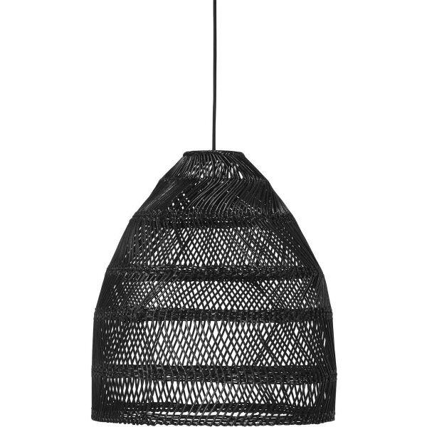 Outdoor Pendelleuchte MAJA aus Rattan schwarz Ø 53 cm